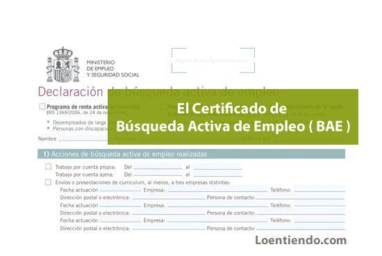 Cómo conseguir el Certificado de Búsqueda Activa de Empleo