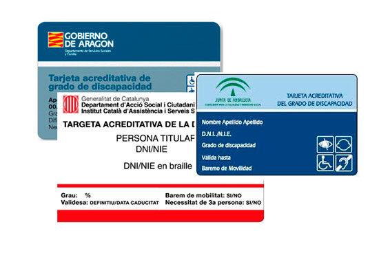 Certificados y tarjetas acreditativas de discapacidad