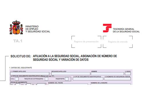 Cómo solicitar el número de afiliación a la Seguridad Social