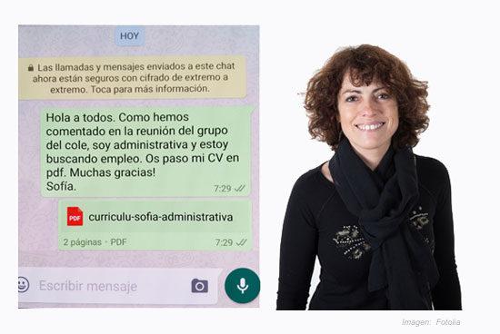 Compartir un curriculum por whatsapp