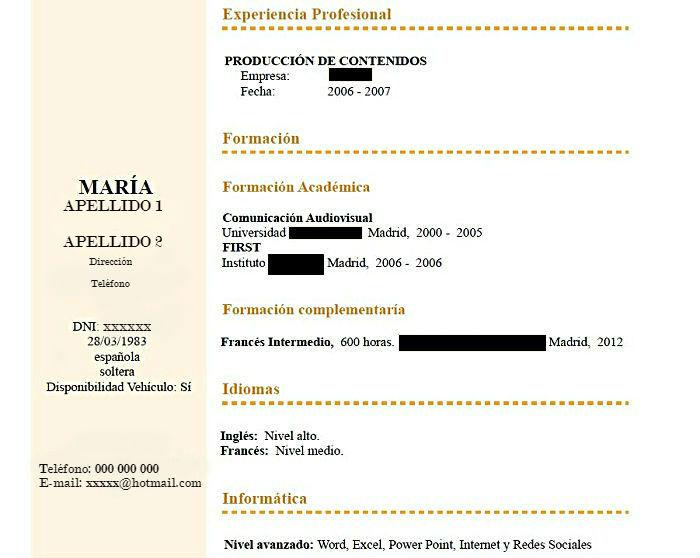 INAEM - CV - empleo