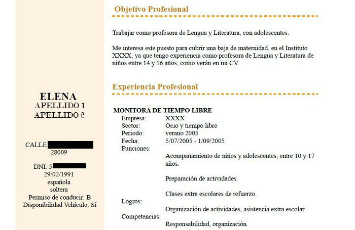 INAEM - empleo - CV