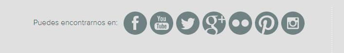 Enlace a redes sociales desde una pagina web de empresa