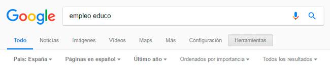 Strumenti di ricerca di Google