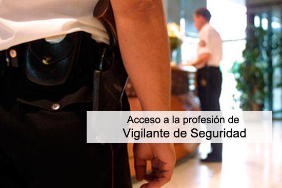 Acceso a la profesión de vigilante de Seguridad