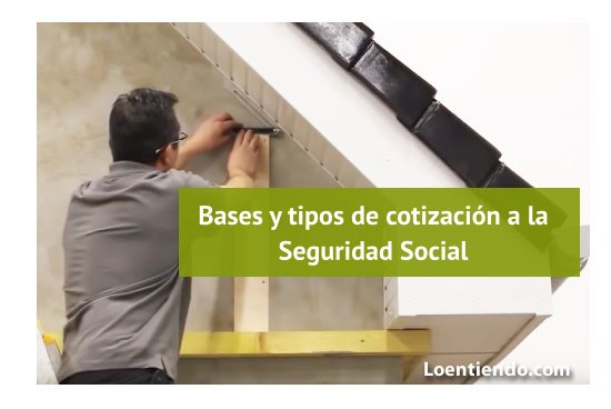 Bases y tipos de cotización a la Seguridad Social vigentes