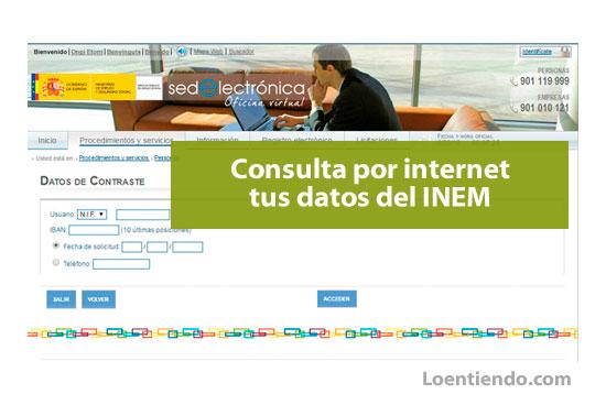 Consultar online datos INEM