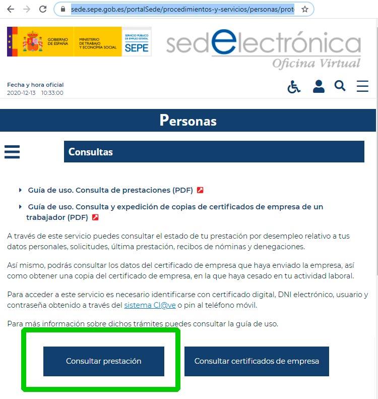 Consulta expediente online, paso 1
