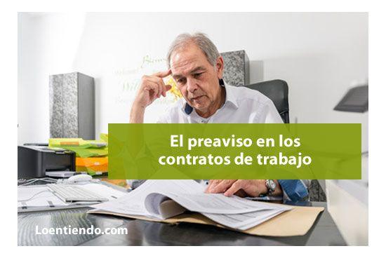 Cuándo es obligatorio un preaviso en el contrato de trabajo