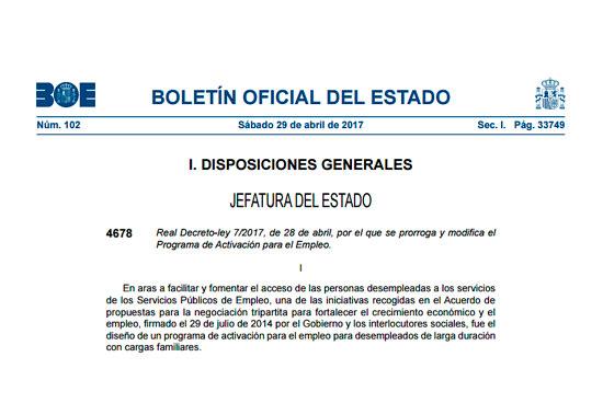 Real Decreto-ley 7-2017