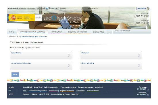 Sellar el paro por internet en Ceuta o Melilla