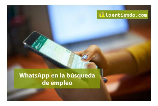 whatsapp en la busqueda de empleo