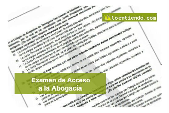 Examen de acceso a la abogacía