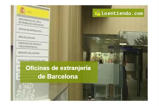 Oficinas extranjería Barcelona