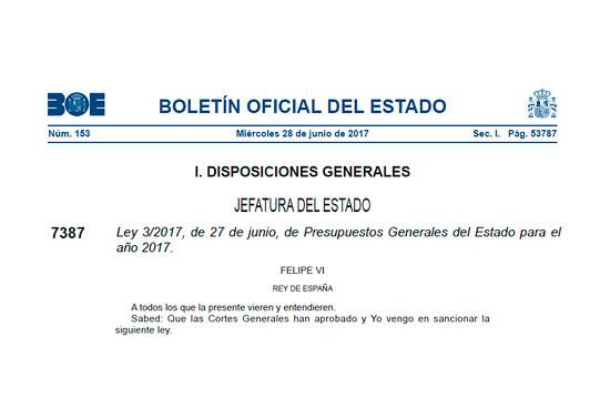 Ley de Presupuestos Generales del Estado 2017