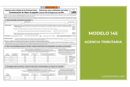 Modelo 145 Agencia Tributaria