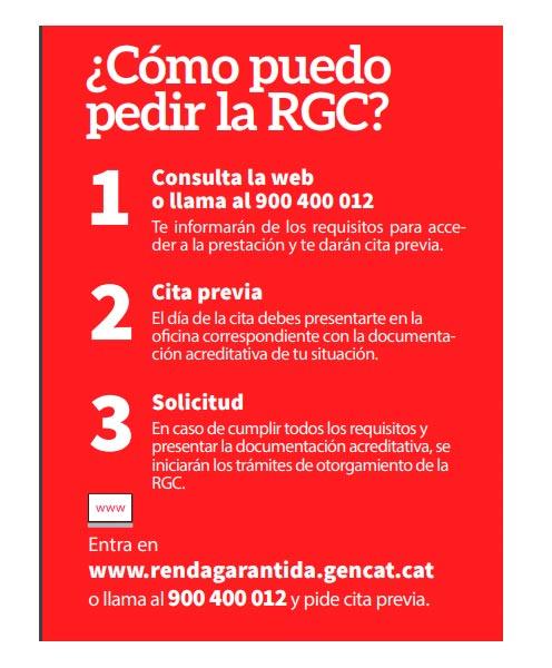 Solicitar en Cataluña la Renta Garantizada de Ciudadania