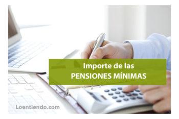Importe de las pensiones mínimas