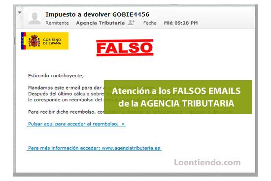 Estafas con falsos correos de Hacienda