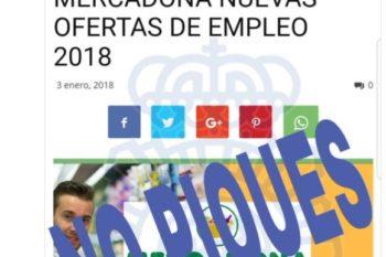 Falsa oferta de empleo Mercadona
