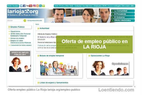 Oferta de Empleo Público en La Rioja