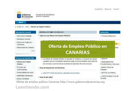Oferta de Empleo Público en Canarias