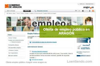 Oferta de Empleo Público en la Comunidad de Aragón