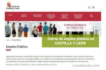 Oferta de Empleo Público en la Comunidad de Castilla y León