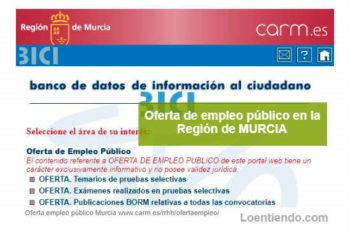 Oferta Empleo Público Murcia