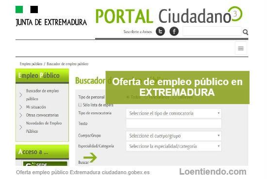 Oferta Empleo Público Extremadura