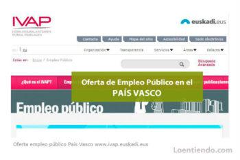 Oferta de Empleo Público País Vasco
