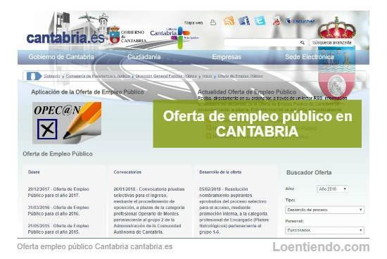 Empleo Público en Cantabria