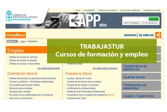 Trabajastur. Cursos de empleo y formación en Asturias