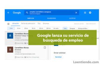Servicio búsqueda empleo Google