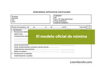Así Es El Modelo Oficial De Una Nómina Laboral 2019
