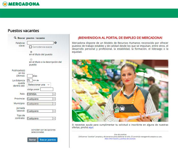 Portal de Empleo de Mercadona