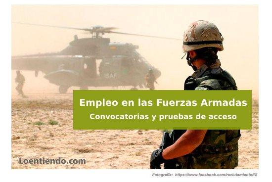 Empleo Fuerzas Armadas, convocatoria
