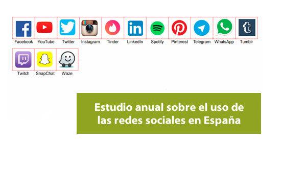Estudio anual sobre uso de redes sociales en España