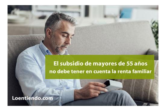 Subsidio mayores 55 años