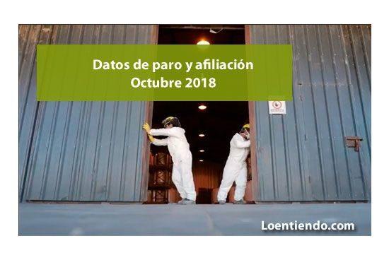 Datos paro y afiliación octubre 2018