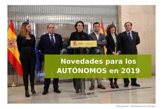 Novedades para los autónomos en 2019
