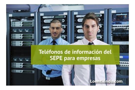 Teléfonos de información del SEPE para empresas