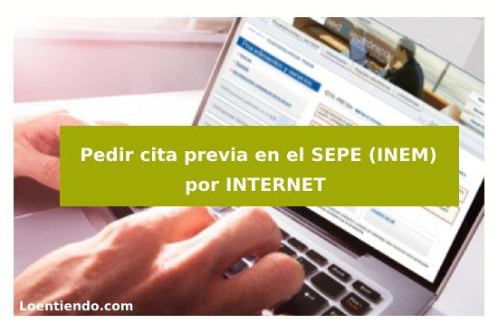 Cita previa SEPE (INEM) por internet