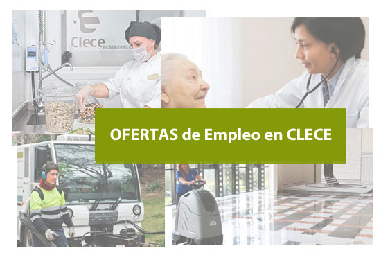 Puestos de trabajo con vacantes en CLECE