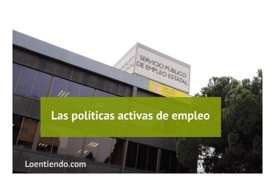 las políticas activas de empleo