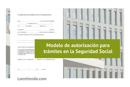 Plantilla modelo de autorizaciones en la Seguridad Social