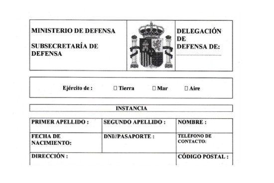 Instancia solicitud certificado servicio militar