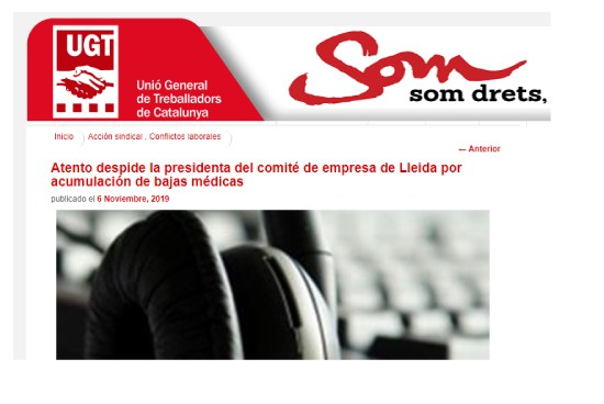 Noticia-UGT-despido-lleida