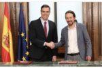 Momento posterior firma del acuerdo de gobierno de coalición