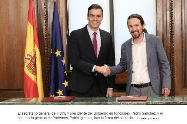 Firma del acuerdo para gobierno de coalición